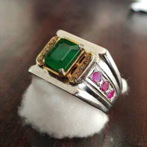 RingsWear Natural Emerald Ring
